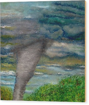 Green Skies Of Tennessee Wood Print by Annamarie Sidella-Felts