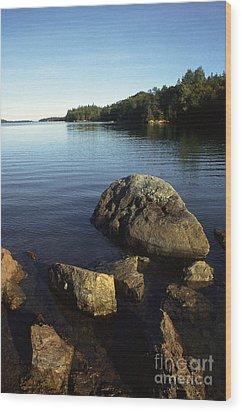 Greenlaw Cove Deer Isle Maine Wood Print by Thomas R Fletcher