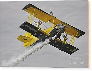 Grumman Ag 164 Wingwalker Wood Print by Conny Sjostrom