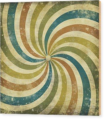 grunge Rays background Wood Print by Setsiri Silapasuwanchai