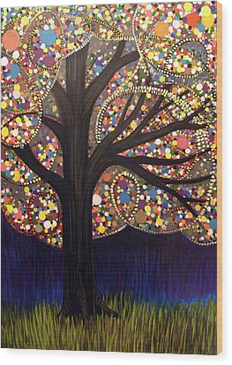 Gumball Tree 00053 Wood Print