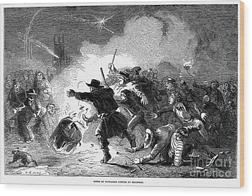 Guy Fawkes Day, 1853 Wood Print by Granger