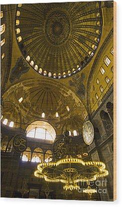 Wood Print featuring the photograph Hagia Sofia by Leslie Leda