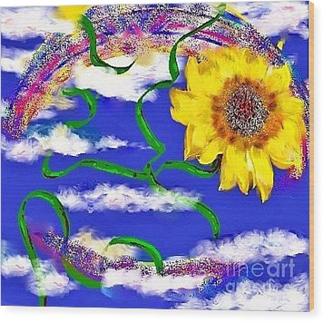 Happiness Is A Sunflower Wood Print by Lori  Lovetere