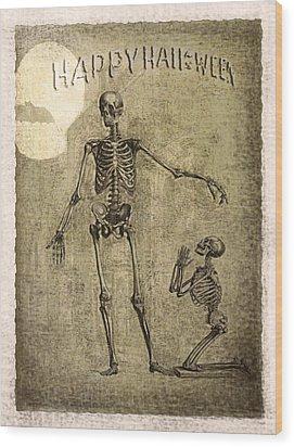 Happy Halloween Wood Print by Jeff Burgess
