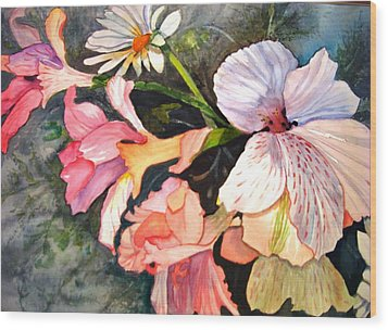 Wood Print featuring the painting Happy Mother's Day by AnnE Dentler