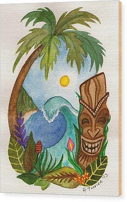 Hawaiian Vignette Wood Print by Heather Torres
