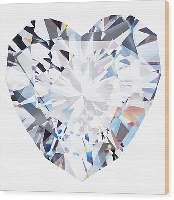 Heart Diamond  Wood Print by Setsiri Silapasuwanchai