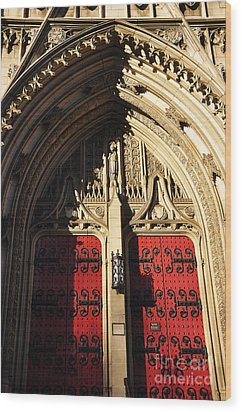 Heinz Chapel Doors Wood Print by Thomas R Fletcher