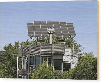 Heliotrope Solar House Wood Print by Martin Bond