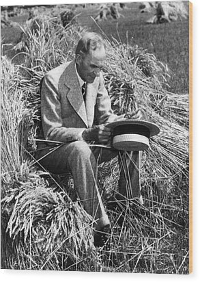 Henry Ford, 1863-1947 Wood Print by Everett