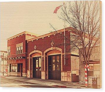 Historic Niles District In California Near Fremont . Niles Fire Station Number 2 . 7d10732 Wood Print by Wingsdomain Art and Photography