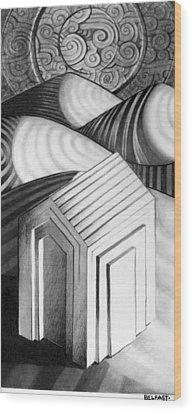 Home Alone Wood Print