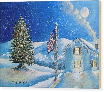 Home For The Holidays Wood Print by Shana Rowe Jackson