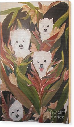 Home Grown Westies Wood Print