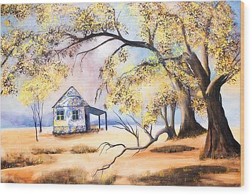 Home Home On The Range Wood Print by Coralie Smyth