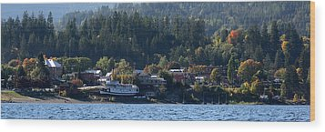 Wood Print featuring the photograph Home Sweet Kaslo by Cathie Douglas
