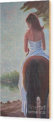 Wood Print featuring the photograph Honeymoon Ride by Gretchen Allen