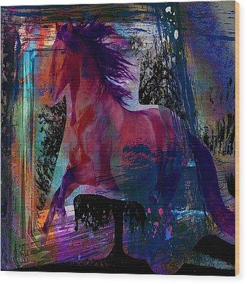 Horse Wood Print by Bogdan Floridana Oana