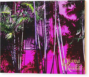 Wood Print featuring the photograph Hot Caribbean Day by Diana Riukas
