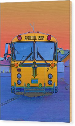 Hoverbus Wood Print by Gregory Scott