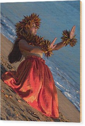 Hula Girl Wood Print by James Roemmling
