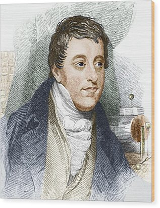 Humphry Davy, English Chemist Wood Print by Sheila Terry