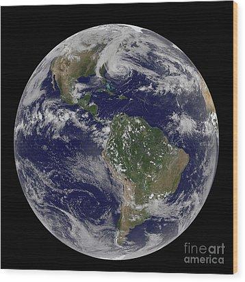 Hurricane Sandy Along The East Coast Wood Print by Stocktrek Images