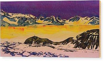Hut Point Antarctica Wood Print by Carolyn Doe