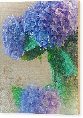 Wood Print featuring the photograph Hydrangea by Anna Rumiantseva