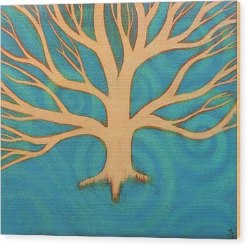 Wood Print featuring the painting Ice by Monica Furlow