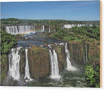 Iguazu Falls Wood Print by David Gleeson