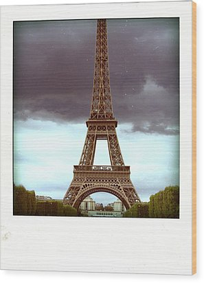 Illustration Of Eiffel Tower Wood Print by Bernard Jaubert