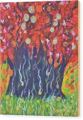 Imagination Wood Print by Shrishti Yadav