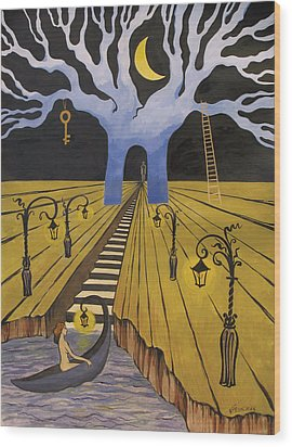 In The Maze Of Strange Dreams Wood Print by Valentina Plishchina