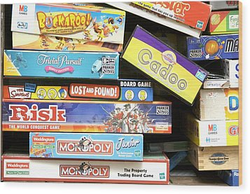 Indoor Games Wood Print by Johnny Greig