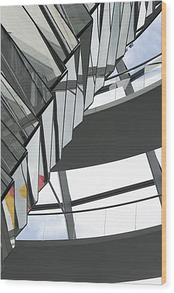 Inside Of The Glass Dome Of Reichstag  Wood Print by Igor Sinitsyn