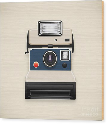 Instant Camera With A Blank Photo Wood Print by Setsiri Silapasuwanchai