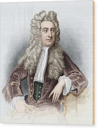 Isaac Newton, English Physicist Wood Print by Sheila Terry