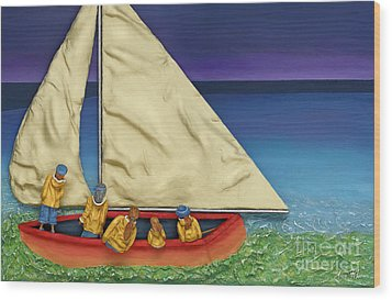 Island Colours Wood Print by Anne Klar