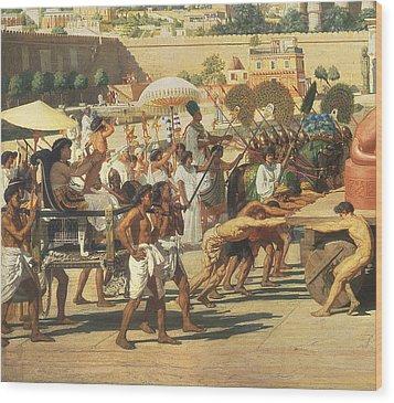 Israel In Egypt Wood Print by Sir Edward John Poynter
