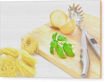 Italian Food Wood Print by Tom Gowanlock