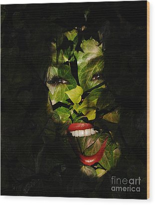 Ivy Glamour Wood Print by Clayton Bruster