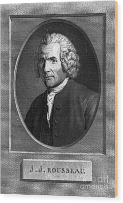 Jean-jacques Rousseau, Swiss Philosopher Wood Print by Photo Researchers