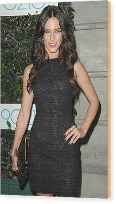 Jessica Lowndes At Arrivals For 90210 Wood Print by Everett