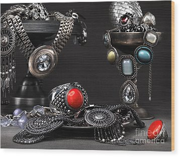 Jewellery Still Life Wood Print by Oleksiy Maksymenko