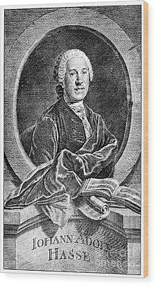 Johann Adolf Hasse Wood Print by Granger
