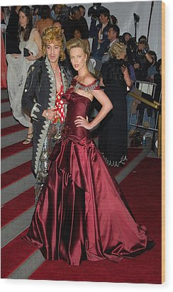 John Galliano, Charlize Theron Wearing Wood Print by Everett