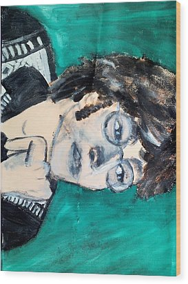 John Lennon Wood Print by Julie Butterworth