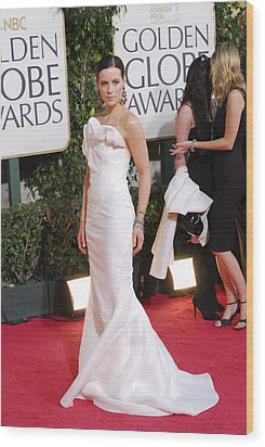 Kate Beckinsale Wearing A J. Mendel Wood Print by Everett